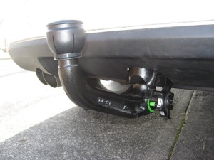 Westfalia Goose Neck towbar system on a VW Tiguan as fitted by Megatyre Towbars