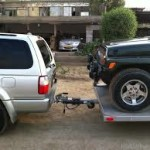Heavy duty towbar fitted by Megatyre on Toyota Surf