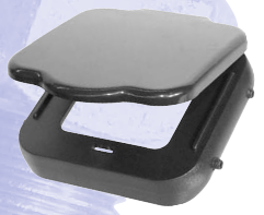 T4376 Hitch Receiver Cover - Blackv