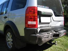 What needs to be done with accident damaged towbars.